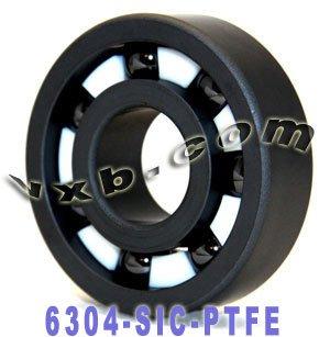 6304 Full Ceramic Bearing 20x52x15 Silicon Carbide Ball