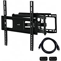 NavePoint Articulating Wall Mount Bracket With Dual Arm Tilt Swivel 32-54 Inches with HDMI Cable