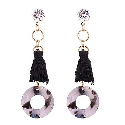 0721585ec Amazon.com: Drop & Dangle - 1 Pair Earrings For Women Fashion Special Charm Tassel  Long Earrings for Lady Crystal Circle Dangle Earrings Friends Gift ...