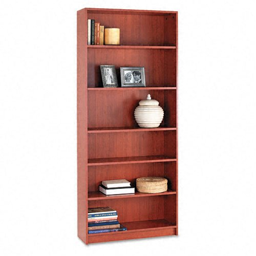 (HON 1870 Series Bookcase, 6 Shelves, 36 W by 11-1/2 D by 84 H, Henna Cherry)