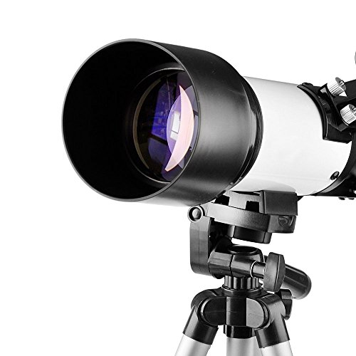 Telescope 70mm Apeture Travel Scope 400mm Az Mount - Good Partner To View Moon & Planet - Good Travel Telescope With Backpack For Kids & Beginners