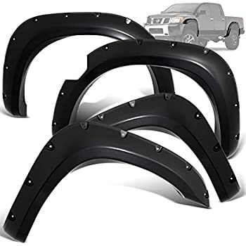 Paintable Matte Finish Front 0.5 ; Rear 0.5 59.5 Styleside; Flare Width Tire Coverage 805-0701 Fits Nissan Frontier 05-14 Pop-Out Style Fender Flares for 58.6 Front 6.25 ; Rear 6.25