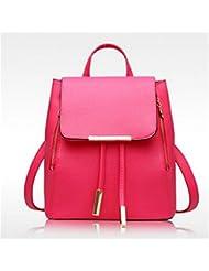 TraveT Women Girls Ladies PU Leather Backpack Handbag School Bag