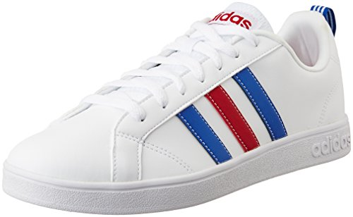 Adidas Men's VS Advantage, WHITE/RED/BLUE, 8 M US