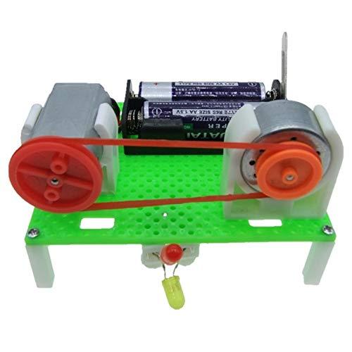 DIY Mini Generator Transmission Wheel Motor Electric Generator Motor Energy for Kids LED Education Science Experiment - Generators Motors Free And Energy