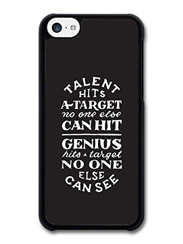 Talent Hits a Target Genius Inspirational Quote in Black and White Hand Drawn case for iPhone 5C