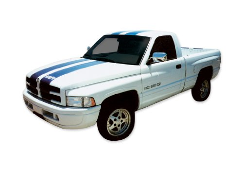 1997 1998 Dodge Ram SS/T Style Truck Decals & Stripes Kit - Silver