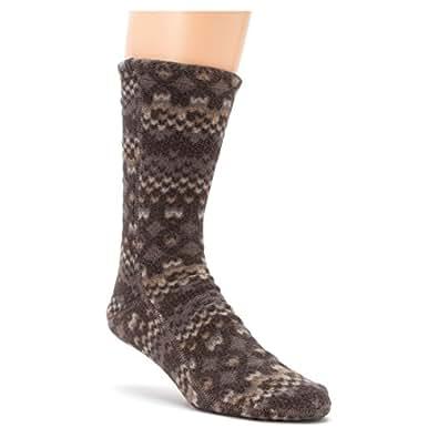 Acorn Unisex Versa Fit Printed Fleece Socks Charcoal Cable XXS