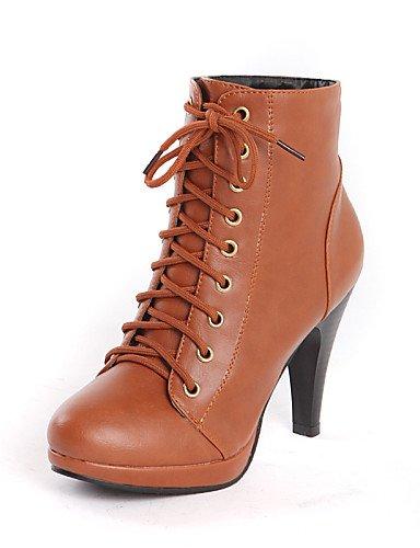 Eu37 Gray Trabajo Cono Eu39 Marrón 5 us6 5 Gray C Uk4 Xzz La Mujer Zapatos A Casual Uk6 Moda De Puntiagudos Semicuero Botas us8 Y negro Tacón Oficina Cn37 5 7 Vestido Cn39 Ix7UfwqR