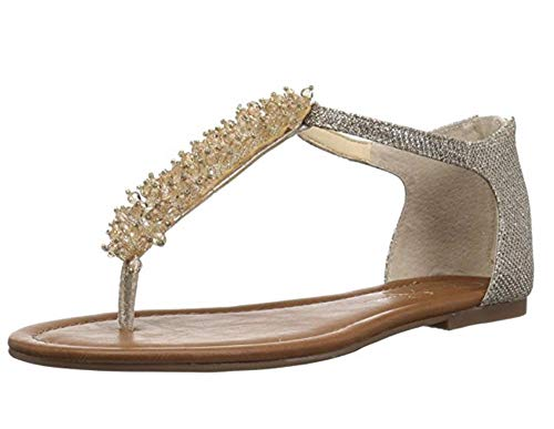 Jessica Simpson Women's Kenton Sandal Gold Sparkle MESH