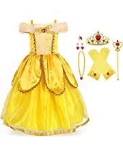 URAQT La Reine des Neiges, Robe Reine des Neiges, Deguisement Reine des Neiges, Déguisements pour Enfants, Reine des Neiges Elsa Princesse Robe