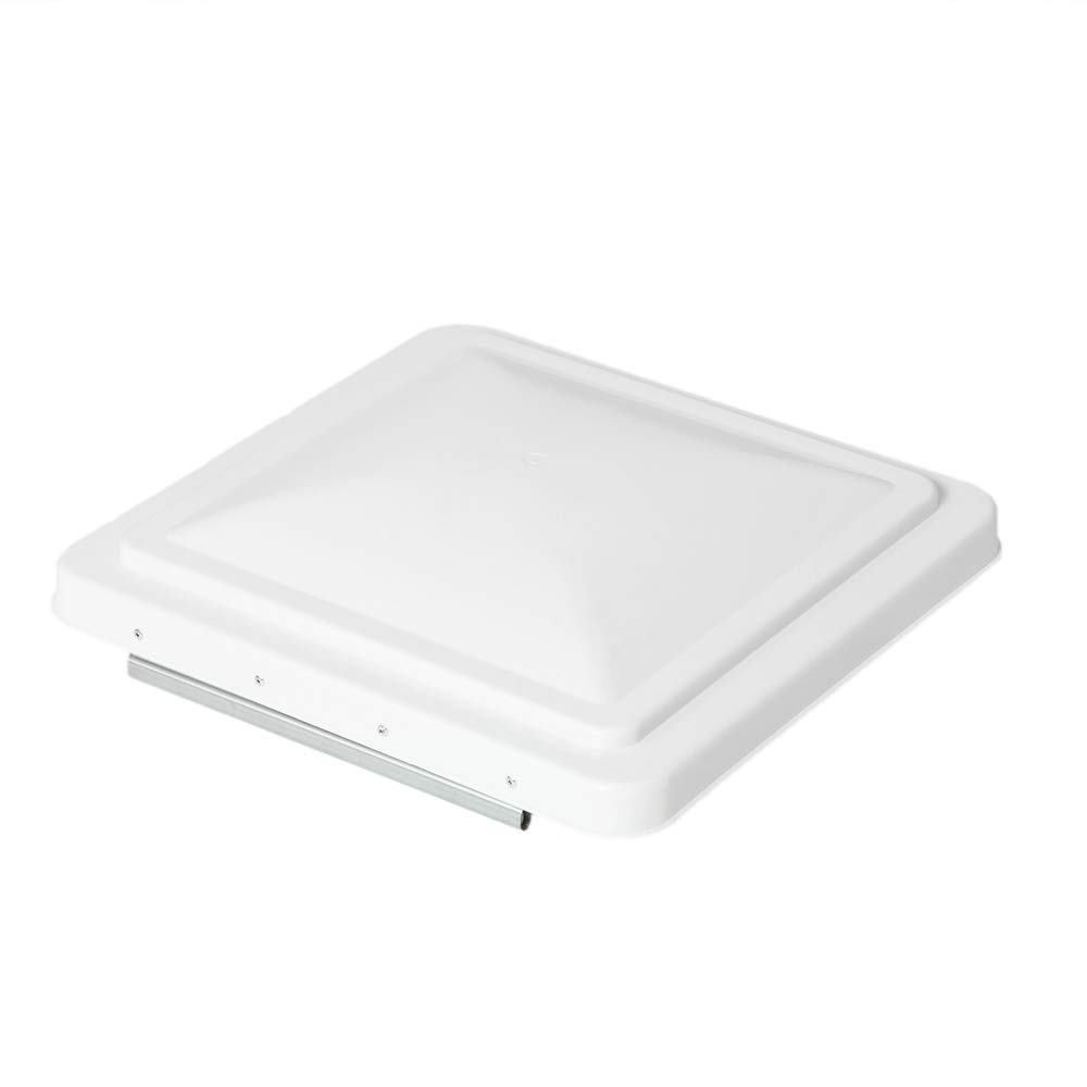 TRIBLE SIX 1pc RV Roof Vent Cover Universal Replacement Lid Ventline for Camper RV Roof Trailer White 14 x 14