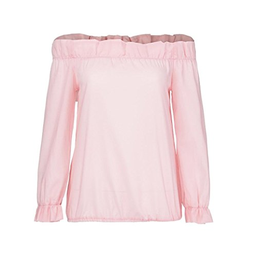 Papillon Rose Chic Lache Cebbay Tops Hors Sexy Mode Personnalit Automne Hiver Confortable paule Chemise Solide Nouveau Manches Longues Casual Vintage Blouse Femmes rwnwx018q