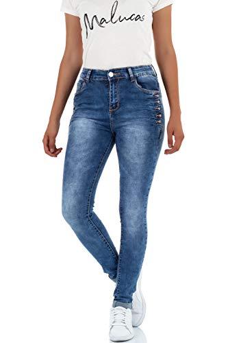 malucas Bleu Femme Skinny Bleu Jeans Bleu RqrRw0S