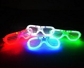 2f7d05a6a1 UChic - Gafas de sol intermitentes con luz LED, 5 unidades, luz fría ...