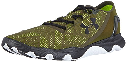 Under Armour Men's Speedform Apollo Vent Running Shoes Black/High-VIS Yellow 8.5 D(M) US
