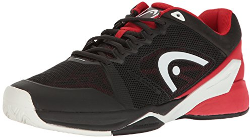 HEAD Revolt Pro 2.0 Men's Tennis Shoes Raven/Red 12.5