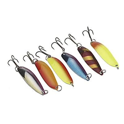 docooler 30Pcs Fishing Lure Mixed Color/Size/Weight/Hook/ Metal Spoon Hard Baits Tackle