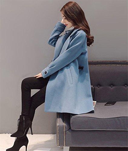 para JOTHIN trenca Abrigo Azul mujer 0gCgZq