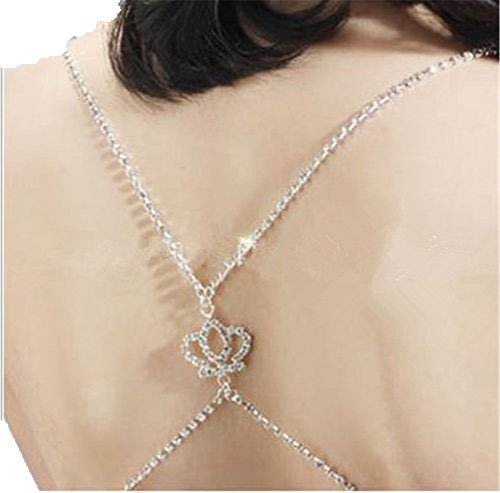 Clear Crystal Strap - OnlySky Women Party Wedding Diamante Crystal Clear Cross Back Bra Straps with Crown/Star