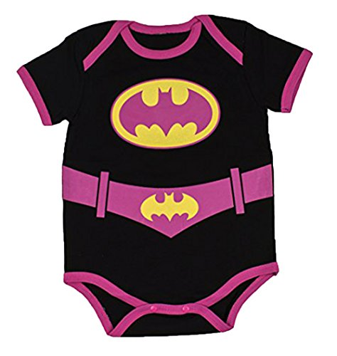 StylesILove Super Hero Inspired Short Sleeved Costume Baby Bodysuit (80/6-12 Months, (Superwoman Outfit)