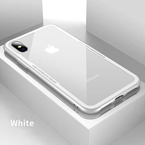 LENALE John_Kendy - Carcasa de Vidrio para iPhone XS XS MAX XR X S R 10 8 7 Plus, Color Transparente, For iPhone 7 Plus,...