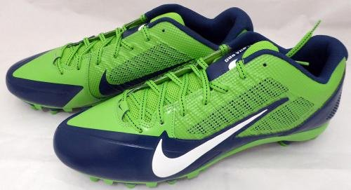 Russell Wilson Autographed Signed Nike Cleats Shoes Seahawks Rw Holo 130470 Autographed NFL Cleats