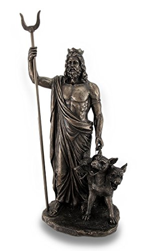 Resin Statues Greek God Of The Underworld Hades Bronze Finished Statue 7.5 X 14.5 X 4.5 Inches Bronze