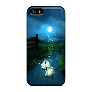 Excellent Design Mystical Swans Cases Covers For Iphone 5/5s