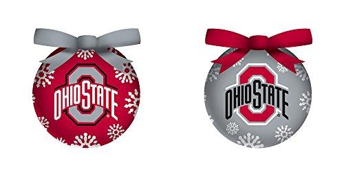 Ohio State University Light Up Ball Christmas Ornament Set of 6 (Ornament State Holiday Ohio)