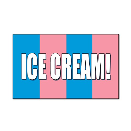 Ice Cream! Food Fair Promotion Business Car Door Magnets Magnetic Signs-QTY 2 - 9 x 12 Inches