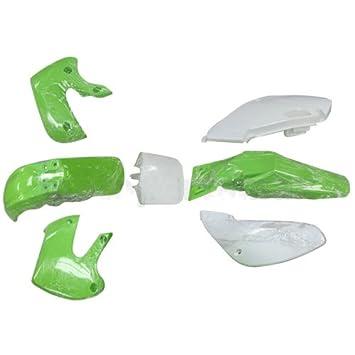 Cuerpo de plástico Kit juego de embellecedores Kawasaki KLX Hotweels drz estilo 110 cc pit bike dirt bike (verde): Amazon.es: Coche y moto