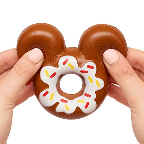 Kawaii Just Play Squeezies Mickey Donut, Multicolor ()