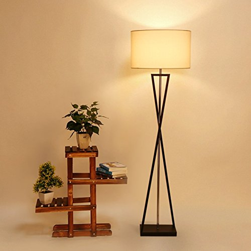 YFF@ILU moderne, minimalistische amerikanische dekorative Lampen Licht kreative Schlafzimmer Holz Tischleuchten Standleuchten, Stehleuchte, Fußschalter