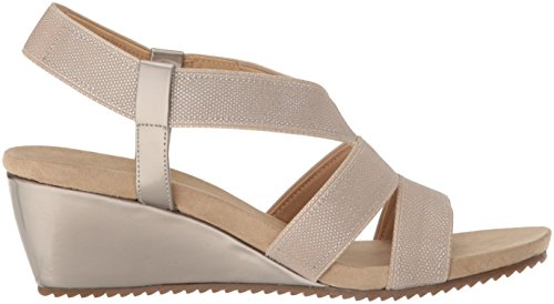 Synthetic Natural Sport Sandal Wedge Cabrini Anne Silver AK Klein Taupe Women's xZwqTvv0g