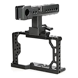 CAMVATE Aluminum Camera Cage for Sony A6500 with Conversion Top Handle Grip and 1/4-20 Adapter Hole Attach DIY accessories
