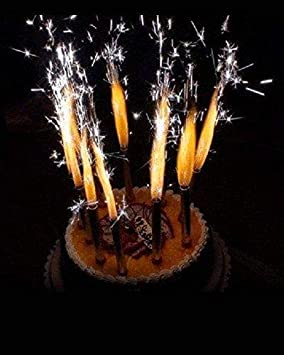 Amazon.com: KIMBAR Velas de cumpleaños para tarta de oro ...