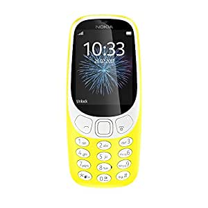 Nokia 3310 (2017) Dual-SIM 16MB Factory Unlocked 2G GSM phone (Yellow - Glossy) - International Version