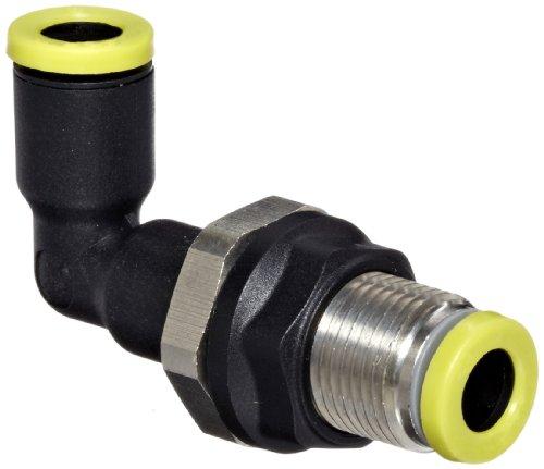 Legris 3139 06 00 Nylon Push-to-Connect Fitting, 90 Degree Bulkhead Elbow, 6 mm Tube OD