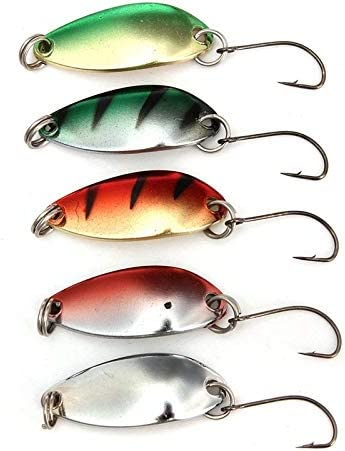 NO LOGO ZZB-Lure, 5 unids/Pack 3g 30 mm Spinner Spoon Spoon Pesca ...
