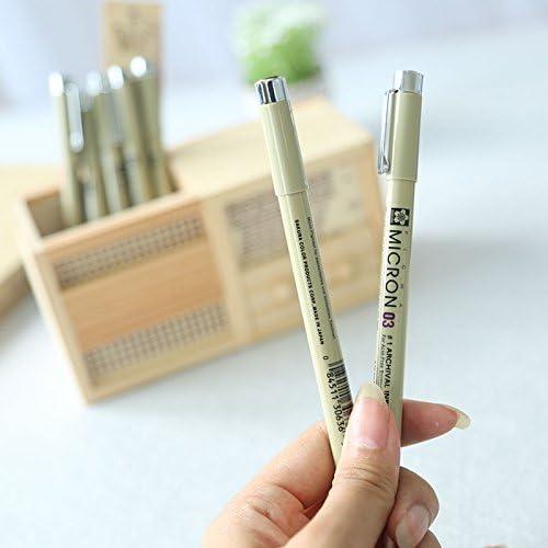 7 pcs//Lot Sakura Pigma Micron aguja para dibujar dibujos animados archivo de tinta de gel pluma Papeler/ía Animaci/ón Suministros de arte A6922