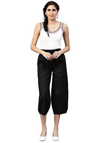 Jaipur Solid Slub Black Kurti Cotton Trousers Women vqBr4fTv
