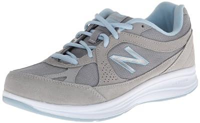 New Balance Women's WW877 Walking Shoe, Silver, 7.5 D US