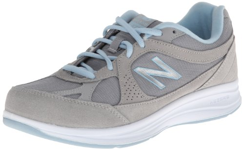 New Balance Women's WW877 Walking Shoe, Silver, 9 D US