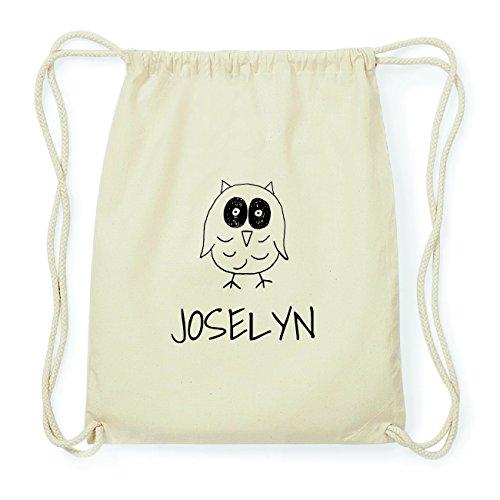 JOllipets JOSELYN Hipster Turnbeutel Tasche Rucksack aus Baumwolle Design: Eule a7cWy8b