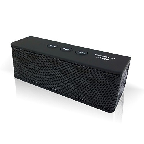 TECEVO T4 NFC Bluetooth Wireless Speaker With Enhanced Bass Portable & Rechargeable Built-in Microphone 10W RMS - Black