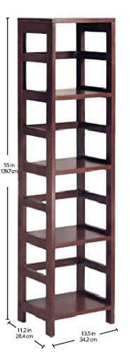 Winsome Wood 4-Shelf Narrow Shelving Unit, Espresso