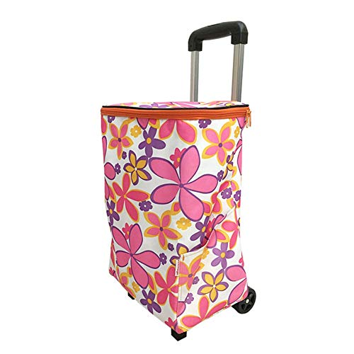 aac554b64489 M-zmds Reusable Grocery Trolley Shopping Bags - Foldable Eco Portable Tote  Grocery Bags with Wheels,Large Collapsible Heavy Duty Shopping Bag for ...