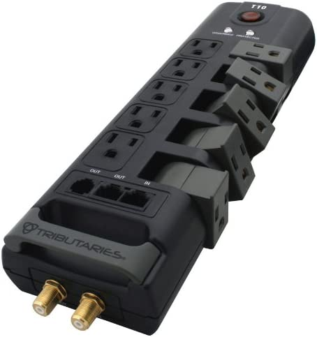 Tributaries – T10 – 10 Outlet – Swivel Power Strip
