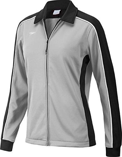 Speedo 7201482 Women's Streamline Warm Up Jacket, Black/Grey - XS